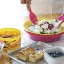 アイスクリーム用 マジックコールドプレート 【約205×205×55mm】 スプーン 保冷剤付き 〔キッチン 台所〕