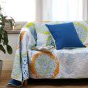 北欧デザイン マルチカバー 綿100% 洗える キルティング 『トシシミズ』